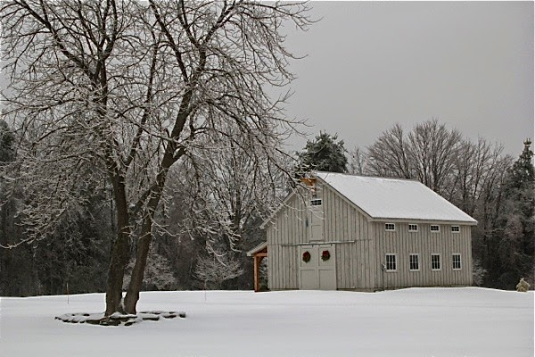 Handcrafted Vermont custom post and beam barn