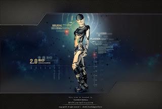 cyborg, futuristic, conceptual art
