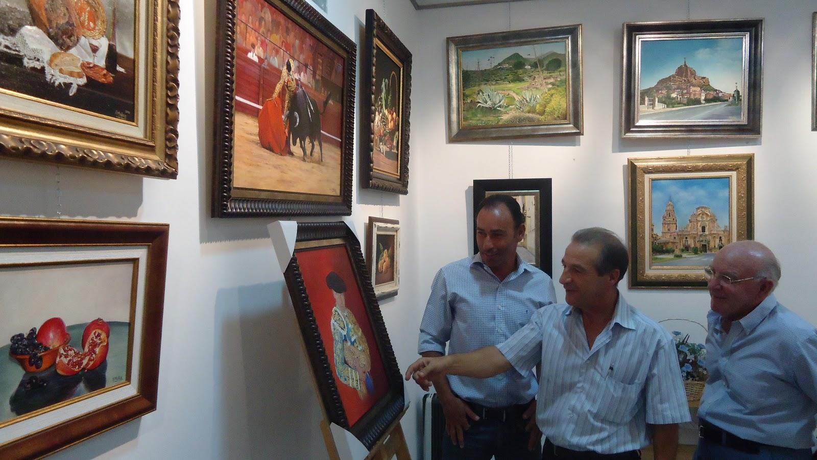 MURCIA AL DIA Francisco Muñoz retrata con su pincel a Pepín Liria