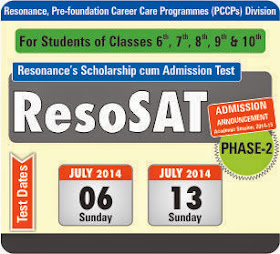 Admission Announcement ResoSAT