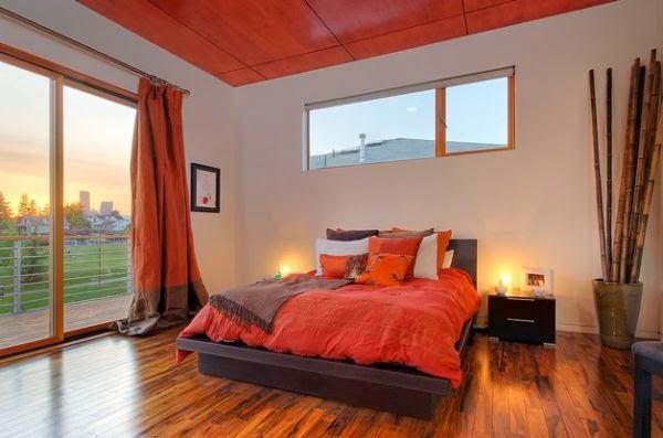 Dormitorios en color naranja y marr n colores en casa for Dormitorio naranja