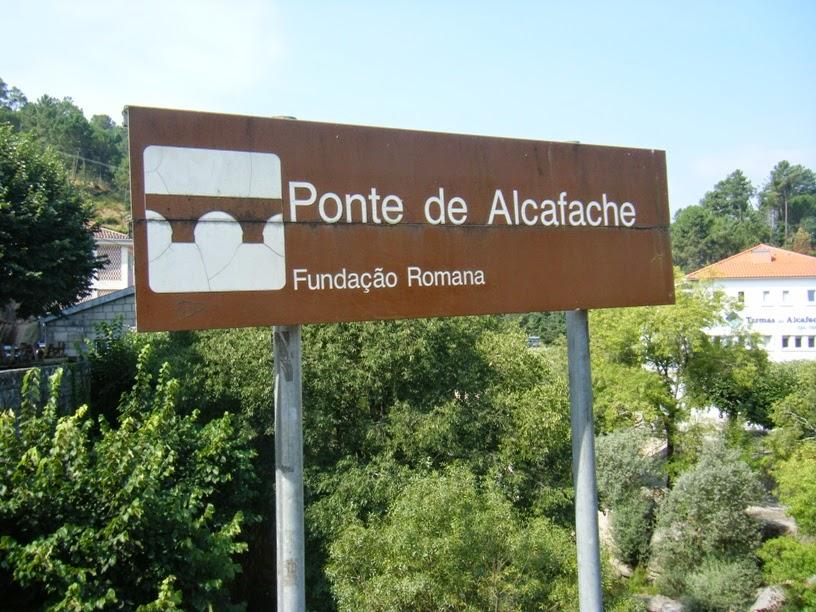 Placa Indicativa da Ponte de Alcafache