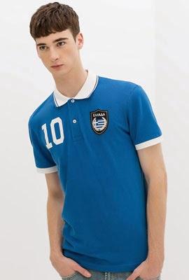 polo bandera Grecia de Zara Mundial Brasil 2014