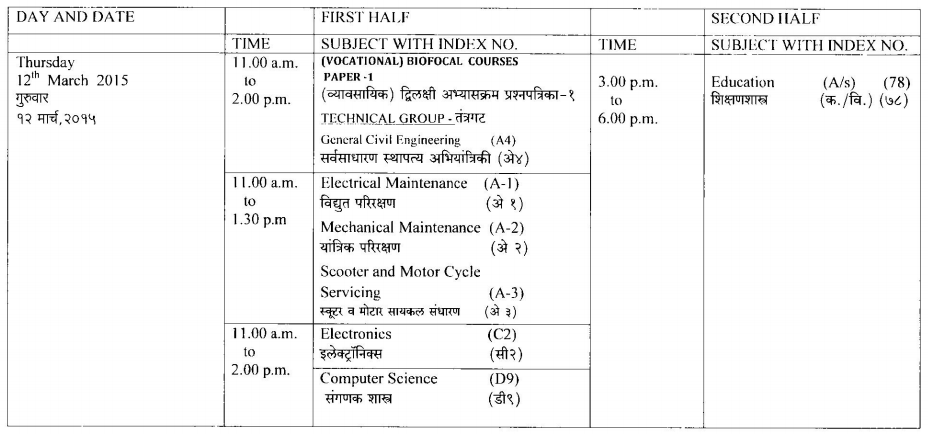 HSC Timetable Page 05