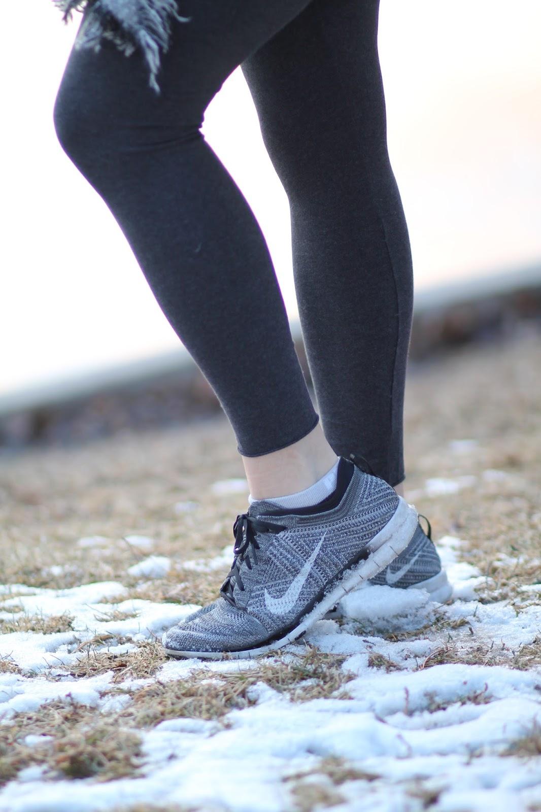 gray, sneakers, nike, fylknit,free