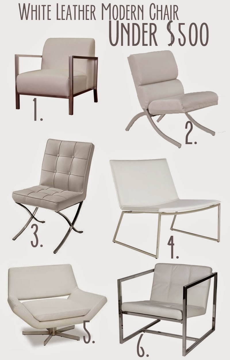 white leather modern chairs with chrome | leatherette , modern chairs