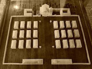 Maquete da redução de São Nicolau, no Museu Municipal.