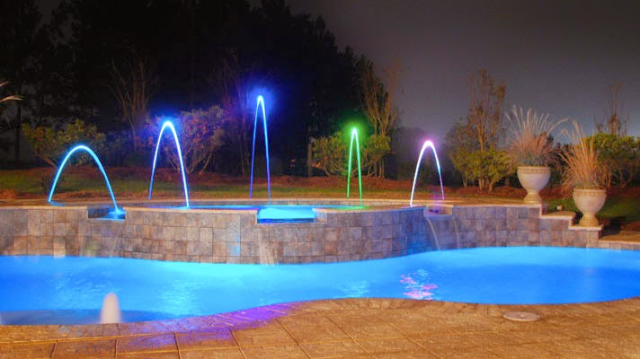 Amazing Pool Night Decoration
