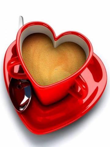 The World Of Love Heart Shape Tea Cup