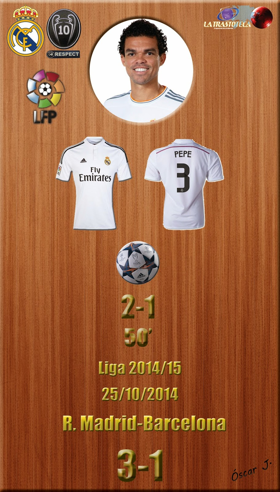 Pepe - (2-1) - Real Madrid 3-1 Barcelona - Liga 2014/15 - (25/10/2014)