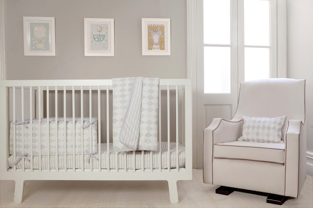 Olli Ella | Nursery Bedding | Harlequin Dusk Cot/ Cot Bed Set