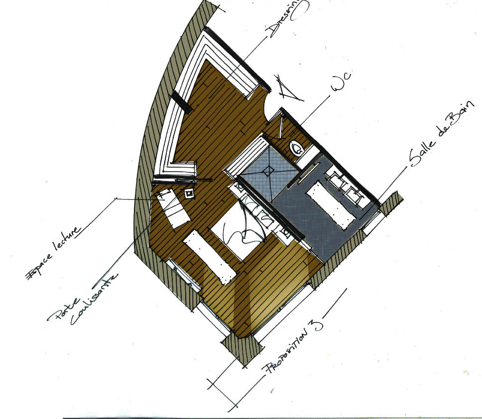 Design et architecture interieure architecture int rieure - Agencement suite parentale ...