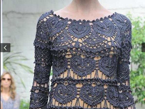 Эффектное ажурное платье. 36438