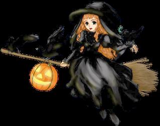 Brujas de halloween para imprimir