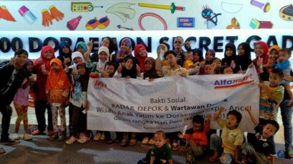 HPN, Wartawan Depok Tour Bersama Puluhan Anak Yatim
