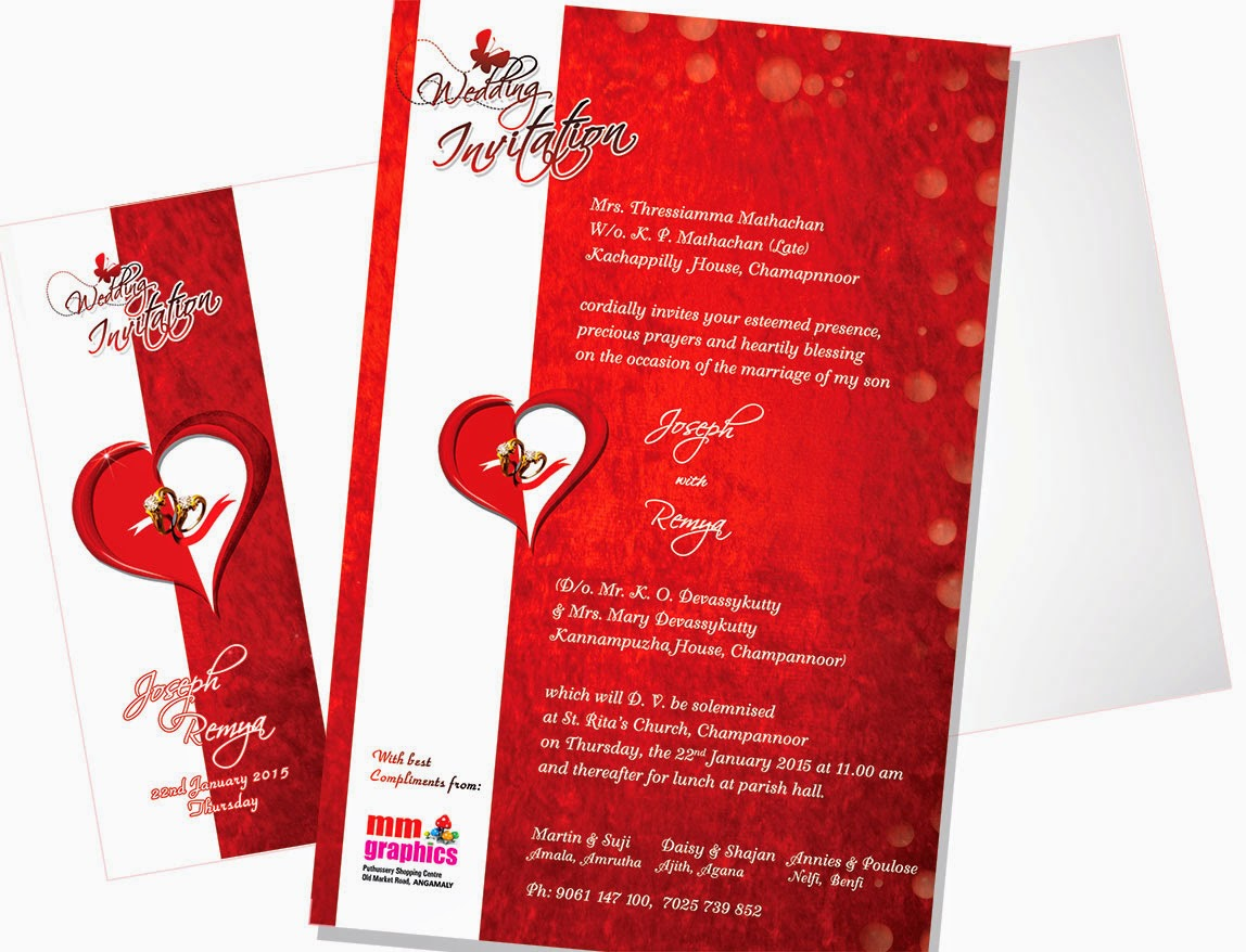 mm graphics - Digital Offset Press - Angamaly: Wedding Card with ...