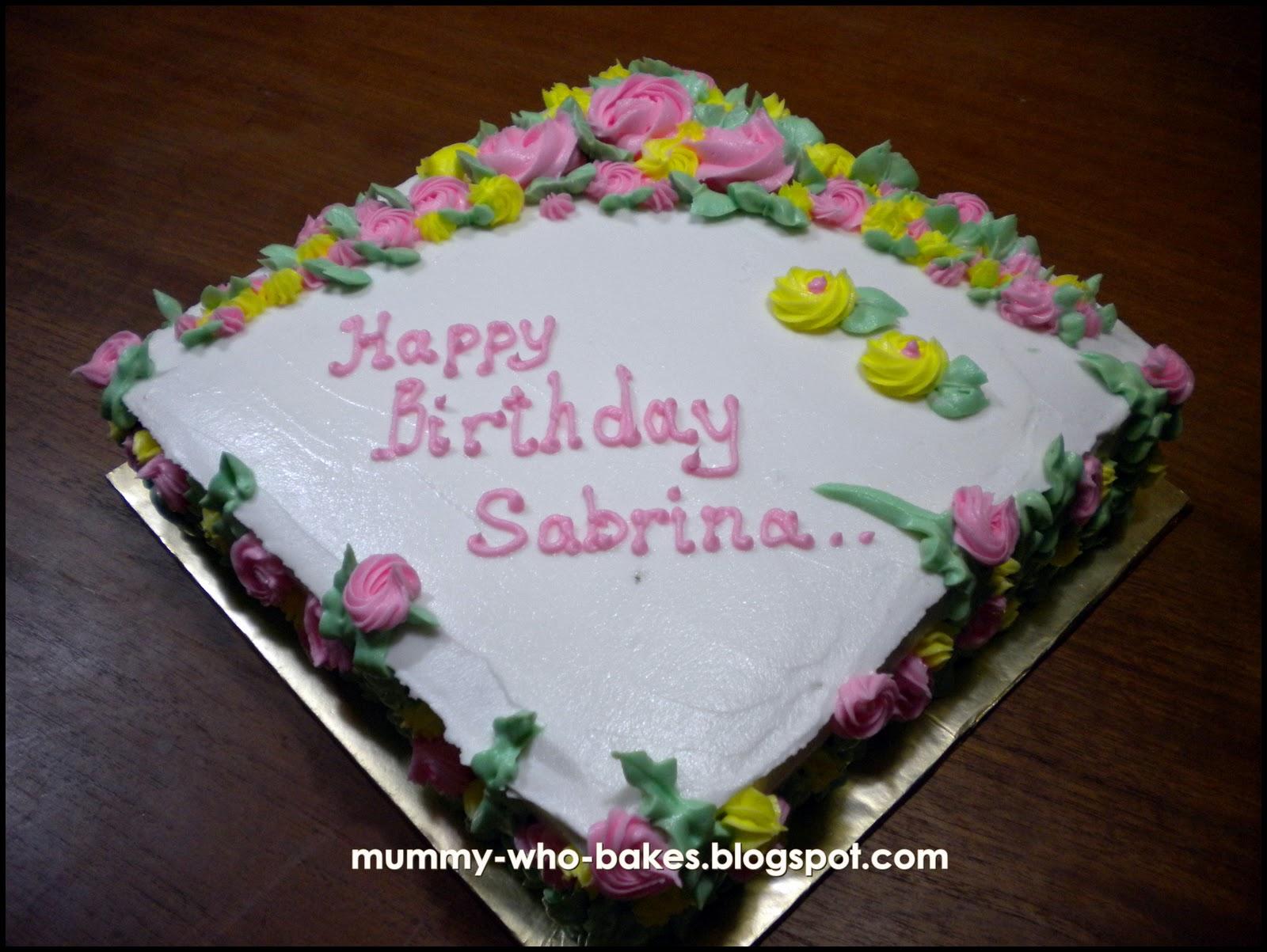 Happy Birthday Sabrina Cake