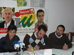 Los diputados provinciales de IU Málaga explican los recortes en la Comarca