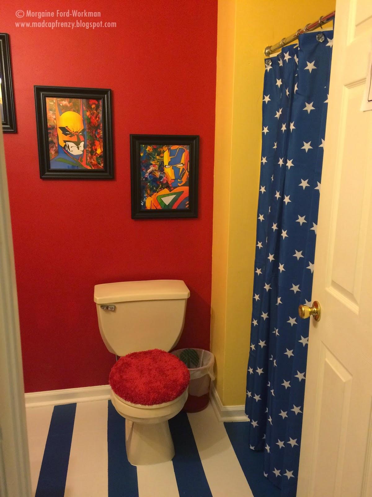 Madcap Frenzy's Superhero bathroom update and makeover