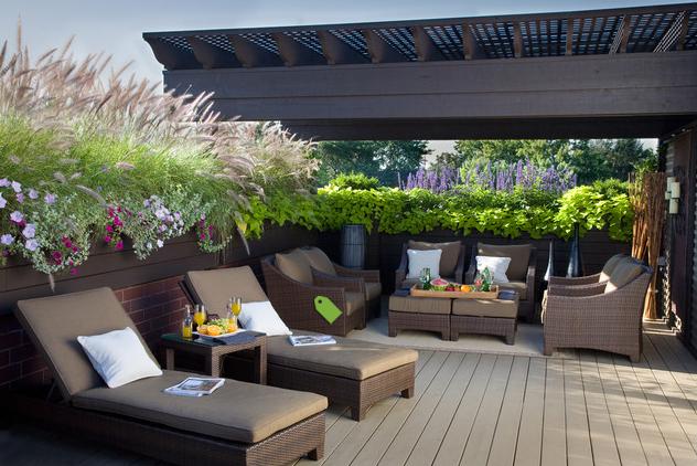 Casas minimalistas y modernas las terrazas modernas ii for Barandas para terrazas modernas