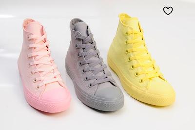 calçados coloridos moda candy color