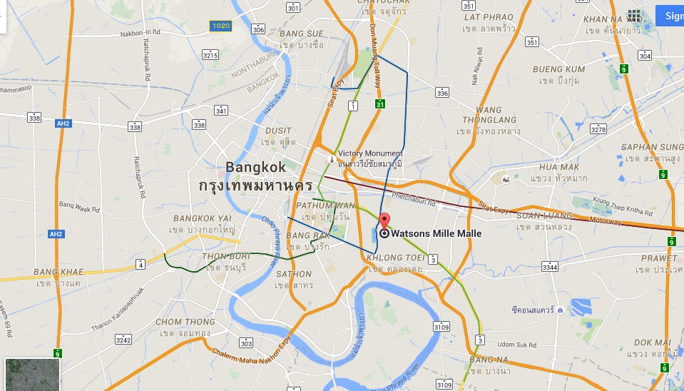 Theo Living Bangkok Map Tourist Attractions in Bangkok Thailand – Thailand Tourist Attractions Map