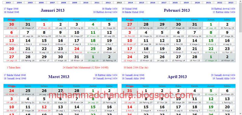 ... | Tutorial : Kalender Indonesia Online Lengkap Sepanjang Tahun