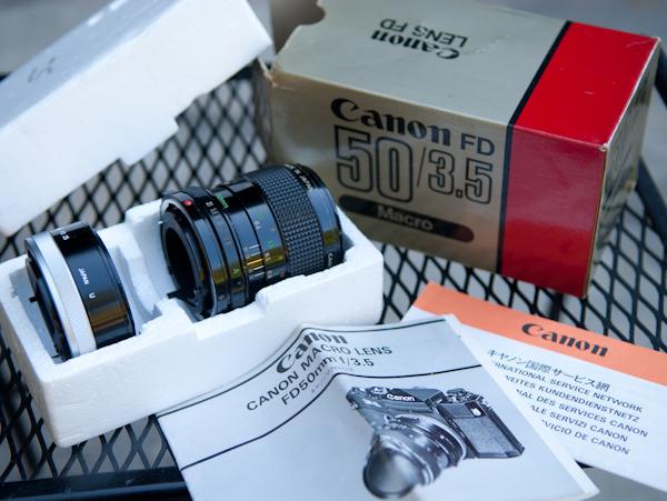 Heygreenie Canon Fd 50mm F 3 5 Macro Estate Sold