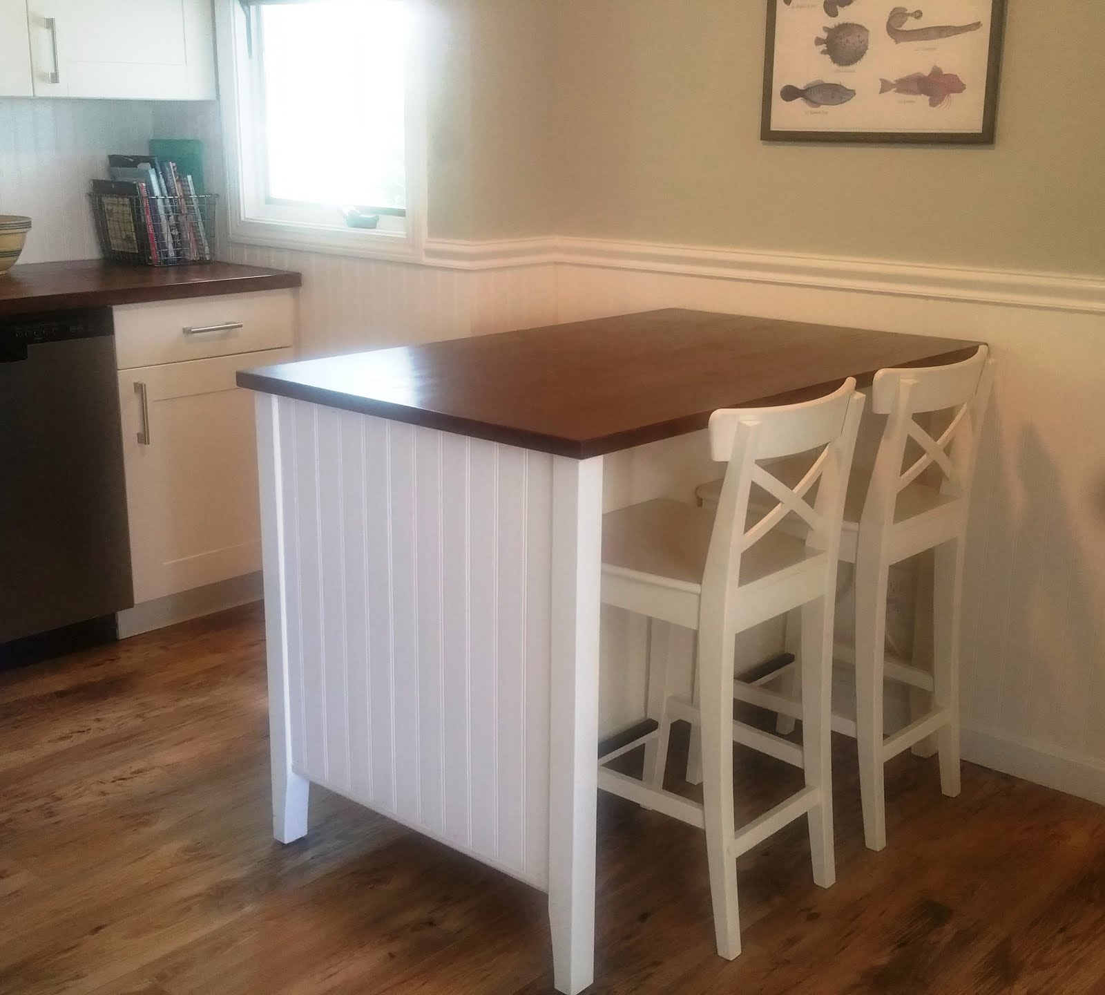 Kitchen Island Stools Ikea: Salt Marsh Cottage: Ikea Kitchen Island Hack