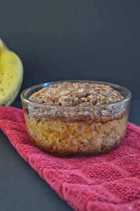 Baked Banana Bread Oatmeal | seriously-lovely.blogspot.com