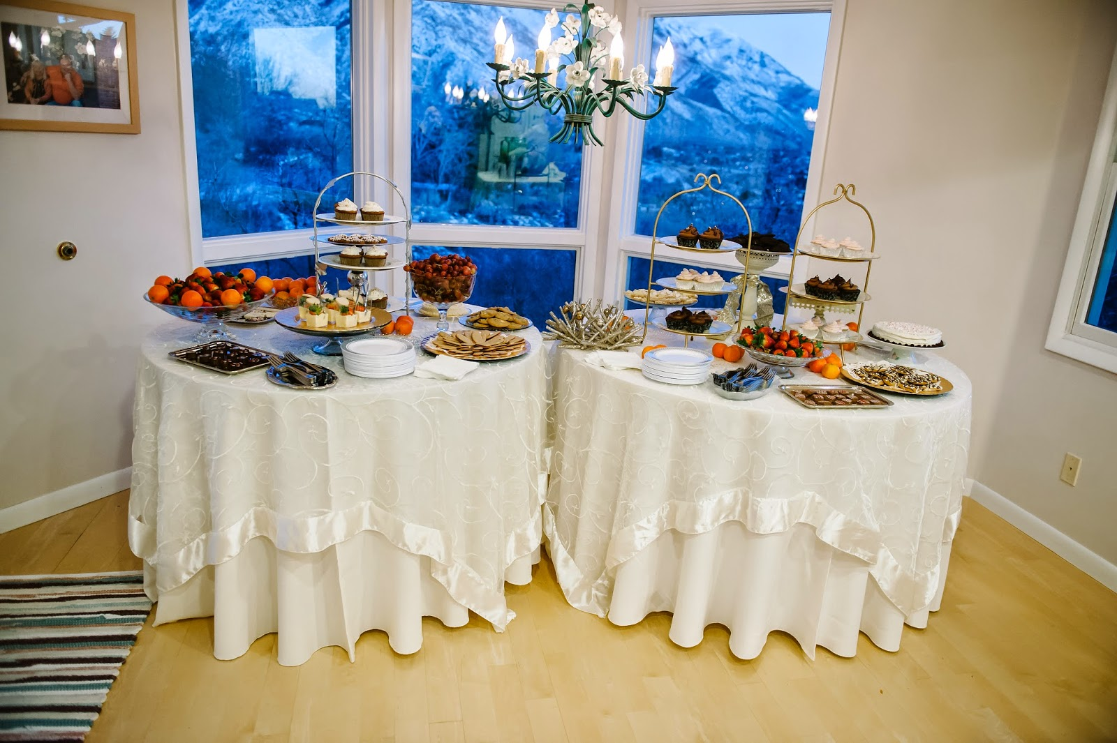 Gluten-Free Dessert Wedding Reception Tables