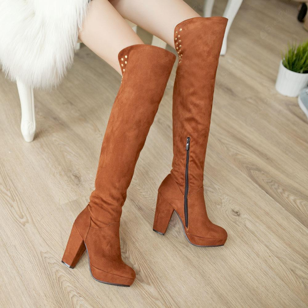 Winter Must Have Shoes- Shoespie Knee High Boots