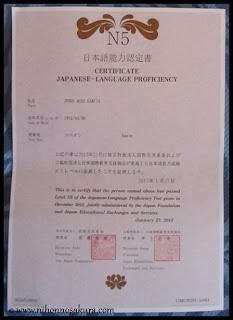 Certificado del Noken (N5).