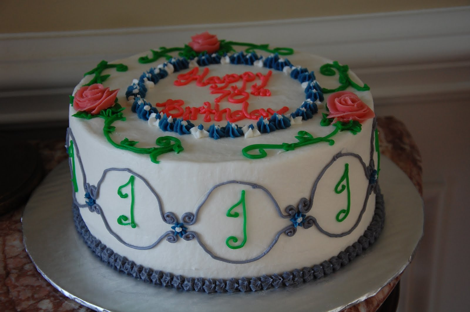 Angela Bartons Cakes Happy 70th Birthday