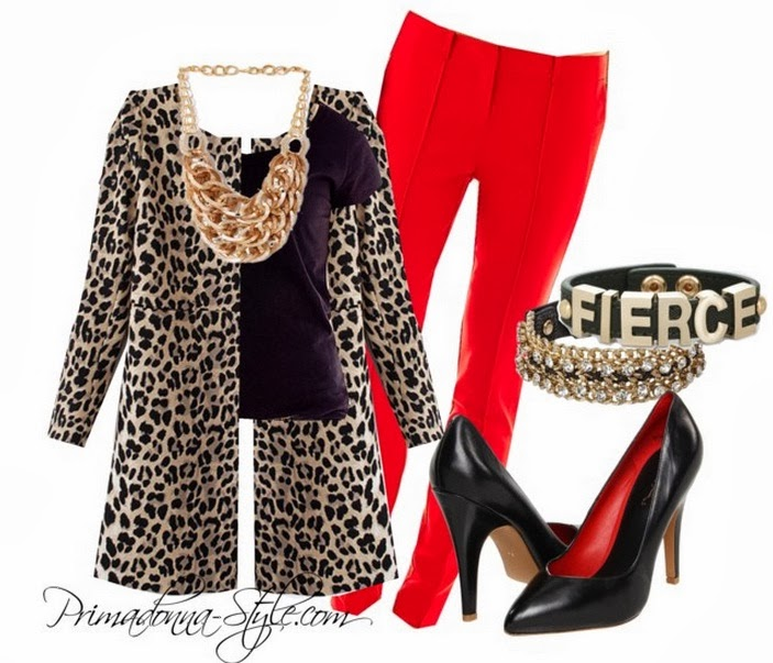 sheinside Leopard Long Sleeve Covered Button Pockets Coat Joe Fresh Short Sleeve Scoop Neck Tee Worthington Pintucked Pants MIA Women's Seduce Pump Textured Links Bib Necklace Fierce Affirmation Bracelet Capsule by Cara Link Chain Bracelet