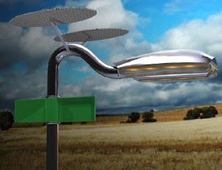 lampara solar y eolica
