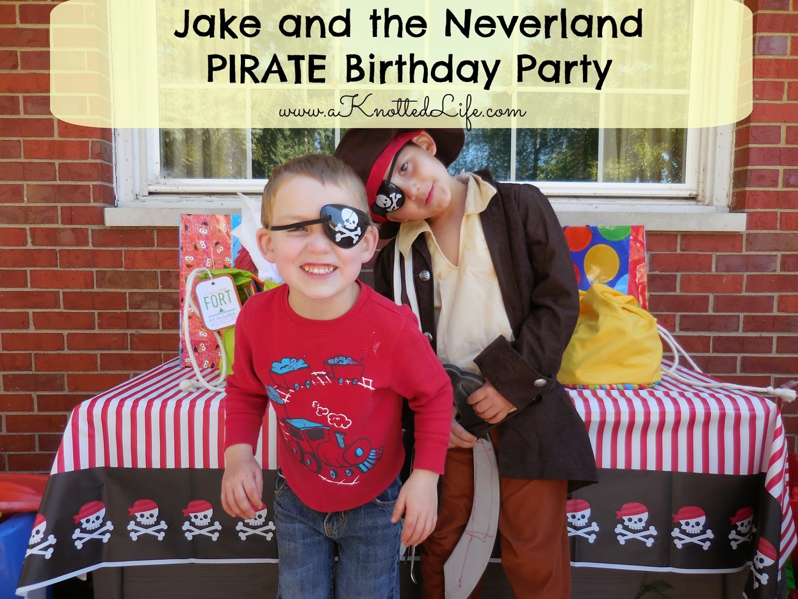 Jake and the Neverland Pirates, Pirate, boy birthday party