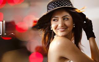 Anushka sharma poses in cap