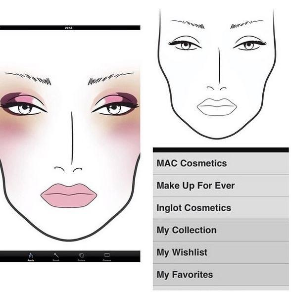 SPbVisage: Face chart. Мой первый фейс чарт.
