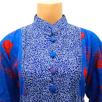 DBT2572 - Baju Bluse Batik Wanita Terbaru 2013