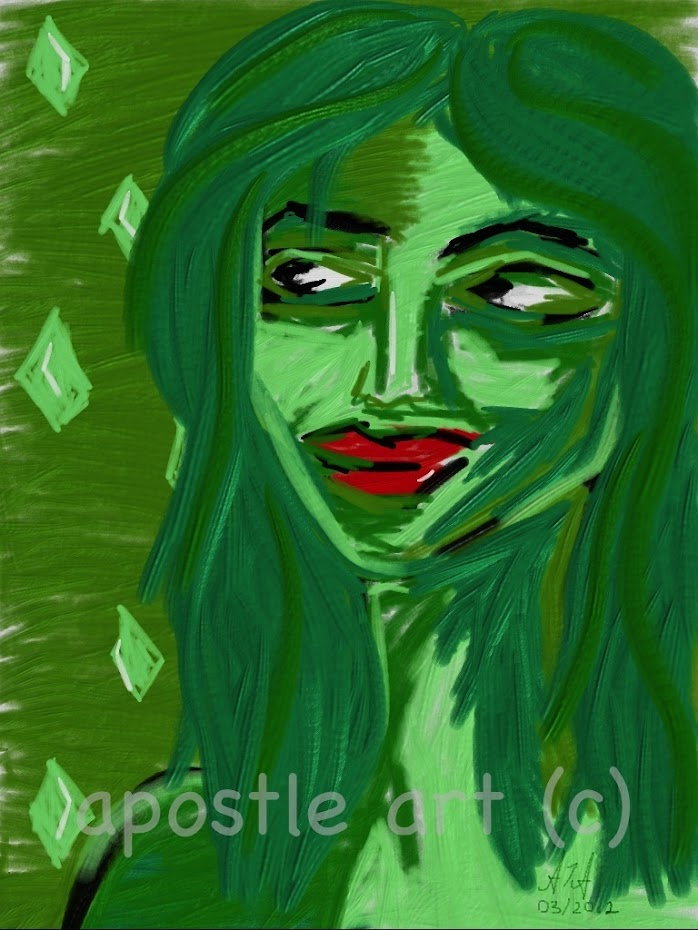 Portrait of the green fairy (work in progress favourite)