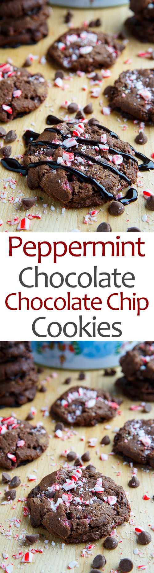 Peppermint Chocolate Chocolate Chip Cookies
