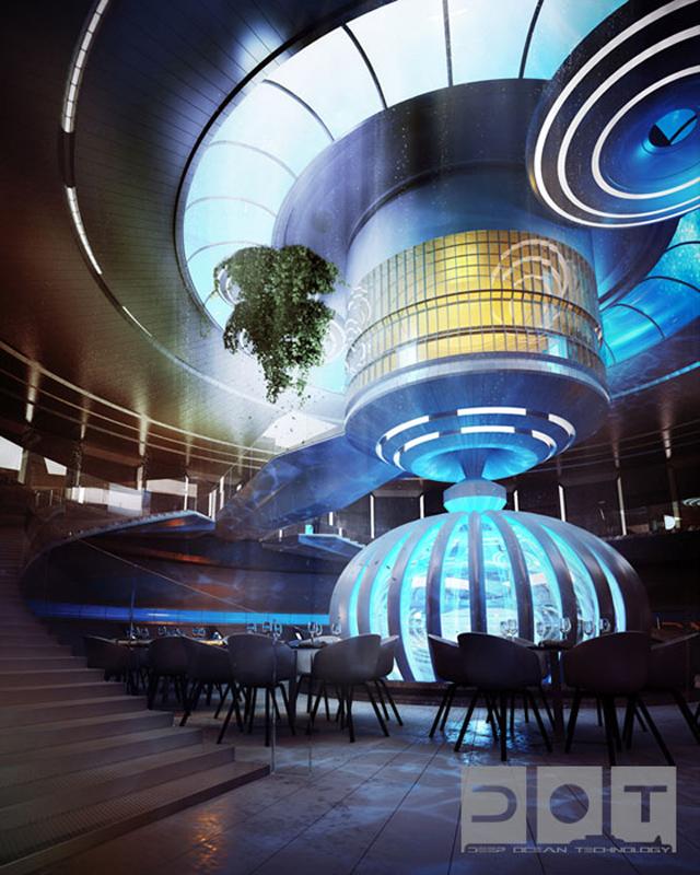 Dubai terá hotel luxuoso debaixo d'água - Water Discus Deep Ocean Technology DOT