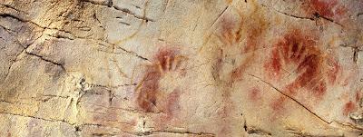 El panel de las manos, Cueva del Castillo, Puente Viesgo (Cantabria)