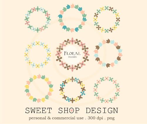 Sweet Shop Design Flower Clip Art Clipart Frames
