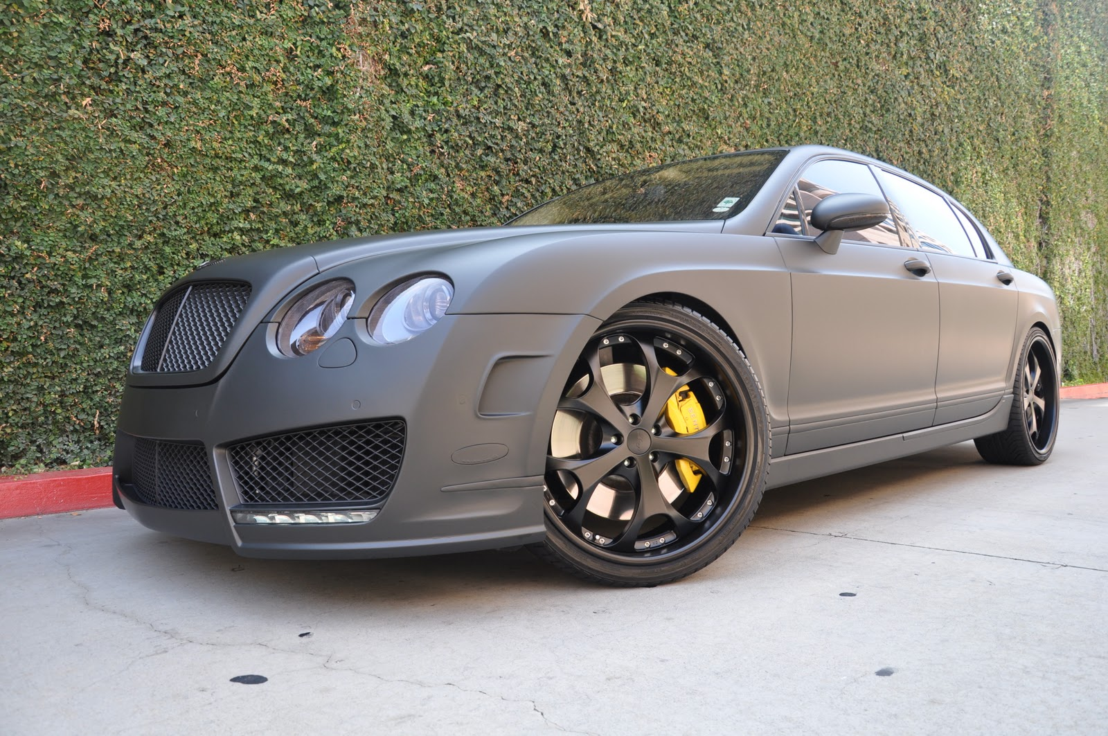 European Vision Autoworks Murdered Out Bentley Flying