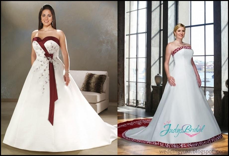 Plus Size Wedding Dresses With Color Accents - Junoir Bridesmaid ...