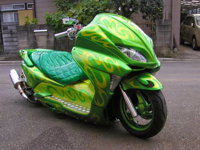 Modifikasi Honda Forza Green
