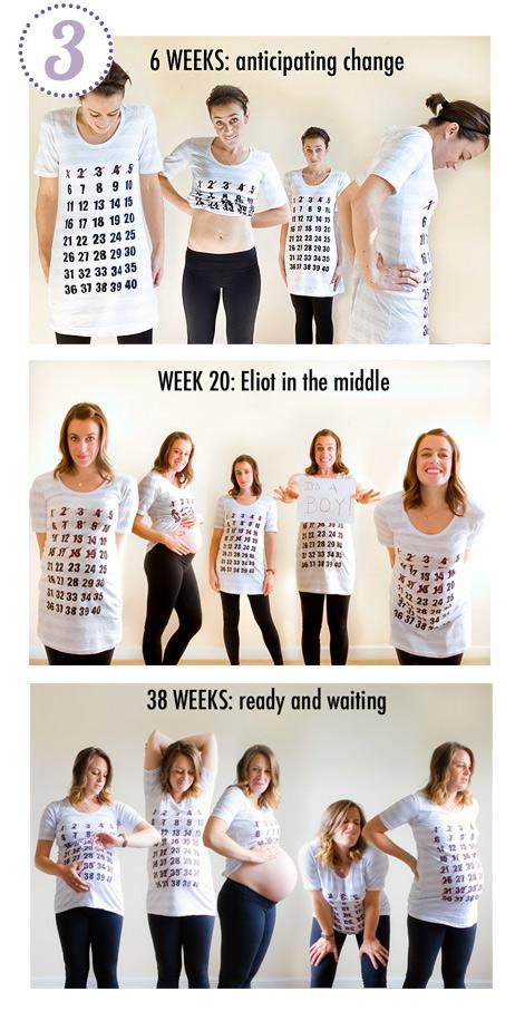 t-shirt con calendario gravidanza
