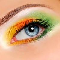 ojo maquillado 2 colores